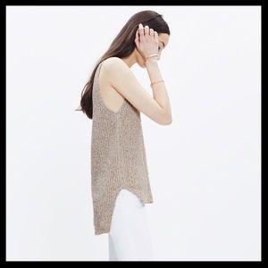 madewell // sleeveless tweed tunic sweater tank